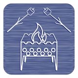 Brazier and zephyr icon. Vector illustration Royalty Free Stock Photos