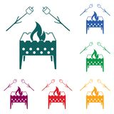 Brazier and zephyr icon. Vector illustration Royalty Free Stock Image