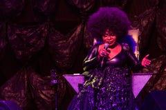 Brazil's Elza Soares em New York City's SummerStage - em agosto de 2017 Imagens de Stock Royalty Free