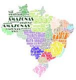 brazil översikt Royaltyfri Foto