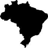 brazil översiktsvektor Royaltyfri Fotografi