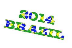 Brazil 2014. Illustration with a Brazil 2014 on white background Stock Image