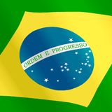Brazil. An illustration of brazil flag Royalty Free Stock Images
