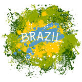 Brazil. Abstract background with splashes in watercolor style  Stock Images