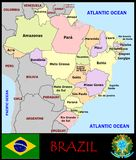 Brazil Administrative divisions Stock Images