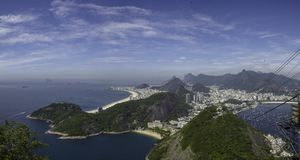 Brazil, Rio de Janeiro from the air royalty free stock photo