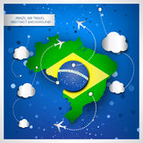 Brazil air travel abstract background Stock Photography