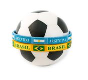Brazil and Argentina Rivals in the Soccer Arena Stock Photo