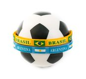 Brazil and Argentina Rivals in the Soccer Arena Stock Photography