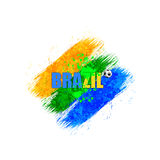 Brazil 2014 Art Background. With Ball Stock Image