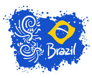 Brazil art. Creative design of brazil art Royalty Free Stock Image