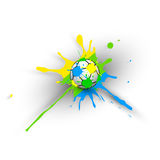Brazil Background With Ball Royalty Free Stock Images