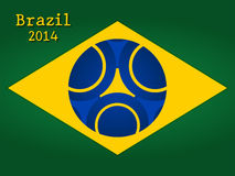 Brazil background. Brazilian flag background world cup 2014 Royalty Free Stock Photo