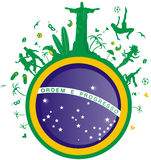 Brazil background. With flag and symbol Royalty Free Stock Photography