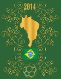 Brazil 2014 background. Background Soccer   Football   Tournament brasil 2014 Royalty Free Stock Image
