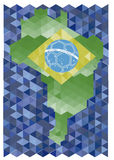 Brazil 2014 background. Background Soccer   Football   Tournament brasil 2014 Royalty Free Stock Images