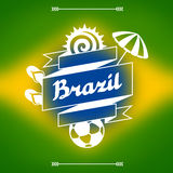 Brazil background with stylized objects and Stock Image