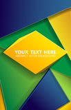Brazil background triangle eps 10 vector. Illustartion of triangle  brazil background concept eps 10 Royalty Free Stock Images