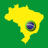 Brazil. Background for your presentations Royalty Free Stock Photo