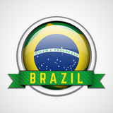 Brazil badge. Vector illustration Royalty Free Stock Images