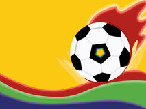 Brazil Ball Banner Stock Image