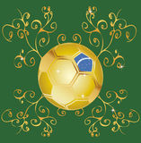 Brazil ball soccer  (brasil 2014) Stock Photos