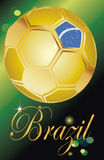 Brazil ball soccer flag (brasil 2014). Background Soccer   Football   Tournament brasil 2014 Royalty Free Stock Image