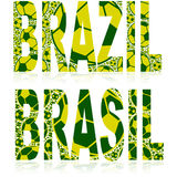Brazil balls Royalty Free Stock Photos
