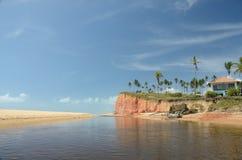 Brazil Beach. Beach located at Cumuruxatiba city, Bahia Estate, Brazil Royalty Free Stock Photos