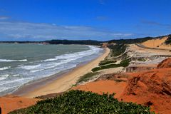 Brazil beach. Beach in the north of Brazil Stock Photos
