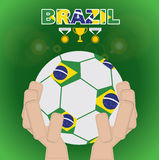 Brazil Beginning Of Football. Royalty Free Stock Image