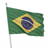 Brazil (Brasil) flag Royalty Free Stock Photos