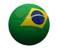 Brazil brazilian soccer football ball 3d rendering. Graphic illustration Royalty Free Stock Photo