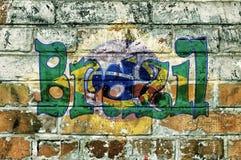 Brazil on bricks Stock Photos