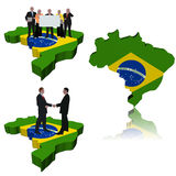 Brazil business team, meeting Stock Photos