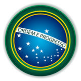 Brazil Button Flag. Blue Green and Yellow Stock Images