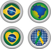 Brazil Buttons Royalty Free Stock Photography