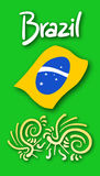Brazil card Stock Image