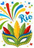 Brazil Carnival Background for Placard, Poster, Flyer and Banner Design Stock Images