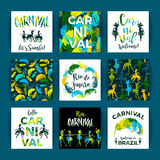 Brazil Carnival. Bright festive templates. Royalty Free Stock Images