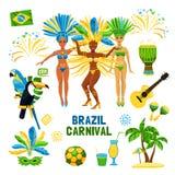 Brazil Carnival  Icon Set Stock Image