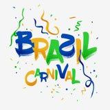 Brazil carnival party celebration with national flag color. Brazil carnival party celebration template with national flag color Stock Photography