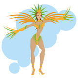 Brazil Cartoon Illustration Editable With Background Royalty Free Stock Image