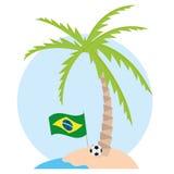 Brazil Cartoon Illustration Editable With Background Royalty Free Stock Photography