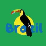 Brazil Cartoon Illustration Editable With Background Royalty Free Stock Photos