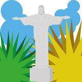 Brazil Cartoon Illustration Editable With Background Stock Images