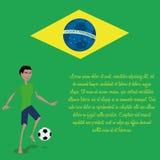 Brazil Cartoon Illustration Editable With Background Stock Photography