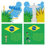 Brazil Cartoon Illustrations Editable With Background Stock Images