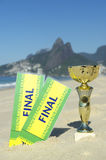 Brazil Champion Trophy Final Tickets Rio Beach Stock Images