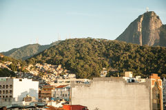 Brazil. Christ Redeemer statue and sugar loaf Stock Photography